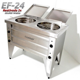 Fritadeira Dupla  - EF24 20.000 Watts - Reativada - Água e Óleo